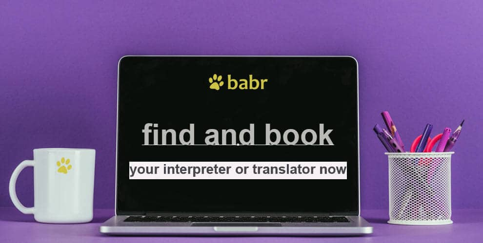 Find and book interpreter or translator now